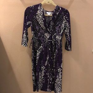 Motherhood maternity sz S purple faux wrap dress